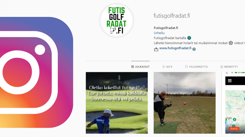 Seuraa meitä Instagramissa! Nopein tapa saada tietoa uusista radoista lähistölläsi
